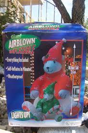 Polar Bear Decorations For Christmas by Image Gemmy 8 Ft Polar Bear And Cub Airblown Inflatable