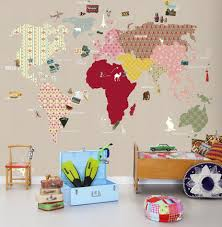 mad for mid century vintage wallpaper world map for travel nursery