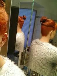 redhair nape shave proper undercut highundercut over the ears undercuts