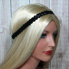 beaded headbands black boho hair band for women beaded headbands narrow seed bead