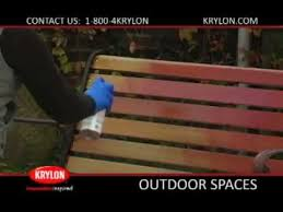how to paint an old wood and metal bench krylon spray paint