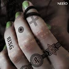 finger tattoo stickers geaifei lord of the rings pattern tattoo stickers waterproof black