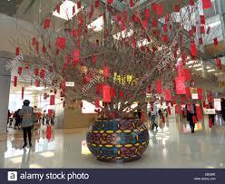 new year shopping china hong kong lunar new year decoration in shopping mall