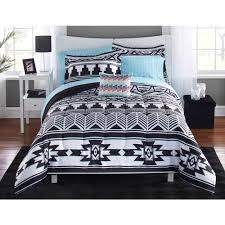 Cute Comforter Sets Queen Mainstays Tribal Black And White Bed In A Bag Bedding Set