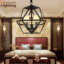 Chandelier Metal Chain Mount Iron Polygon Chandelier Metal Ring Fixed Light Shade