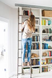 Deep Billy Bookcase Billy Bookcase Hack With Library Ladder Billy Bookcase Hack