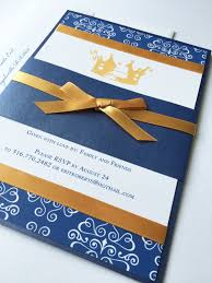 royal blue and gold baby shower invitation little prince unique