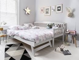 White Trundle Daybed Day Bed In White With Pull Out Trundle Single Bed Noa