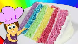 how to make a rainbow cake youtube