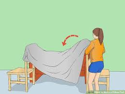 How To Make A Toy Chest Cushion by 4 Ways To Make A Pillow Fort Wikihow