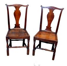 Oak Dining Chairs Antique Georgian Set Six Oak Dining Chairs C 1720 England From