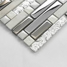 piastrelle in pietra per bagno mosaico di piastrelle decorative per interni pietra argento grigio