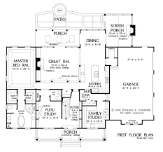 House Plans No Garage House Plan The Blarney By Donald A Gardner Architects