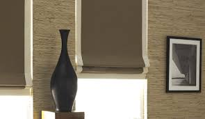 Flat Roman Shades - blackout roman shades