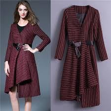 plus size women dresses free shipping lady dresses wine red stripe