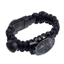 survival bracelet watches images Black upgraded survival watch deluxe survival gear jpg