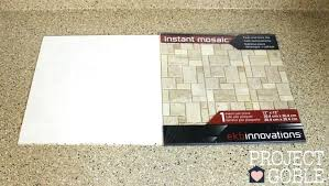 Mosaic Tile Installation Spectacular Vinyl Mosaic Wall Tile Instant Peel Ng Peel And