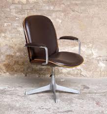 fauteuil de bureau vintage ico parisi mim pivotant et accoudoir