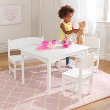 white table with bench kids table chairs sets kidkraft