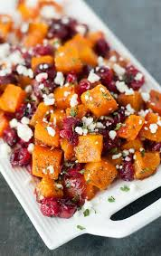 Cranberry For Thanksgiving Honey Roasted Butternut Squash With Cranberries Feta