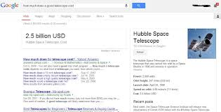 how much does a telescope cost says 1 6bn