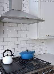 How To Install A Tile Backsplash In Kitchen Subway Tile Kitchen Backsplash Installation Jenna Burger