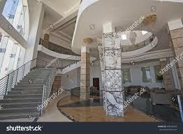 interior design architecture large luxury hotel stock photo