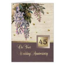 45 wedding anniversary happy 45th wedding anniversary cards invitations zazzle co uk