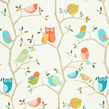 Fabric For Nursery Curtains Curtain Fabric What A Hoot By Harlequin In Pastel Color