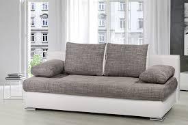 canap convertible blanc et gris canapé lit convertible design blanc gris omega