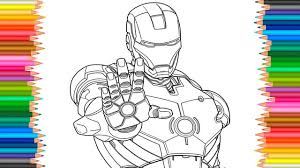 avengers iron man coloring pages youtuf com