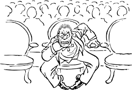 free vector graphic angry man seated audience free image