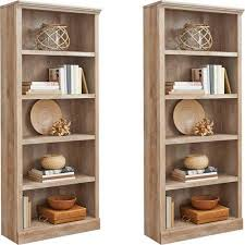 better homes and gardens crossmill bookcase better homes and gardens crossmill 5 shelf bookcase set of 2 mix