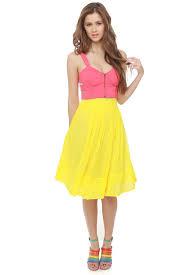 knee length skirt pretty pleated skirt yellow skirt knee length skirt 57 00
