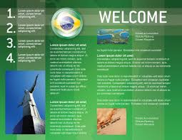 welcome brochure template brazil sign brochure template design and layout now