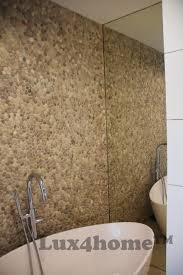 beige pebble tiles on walls pebble mosaics lux4home lux4home com