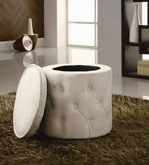 coaster chenille glider and ottoman in chocolate round storage ottoman by coaster 500929