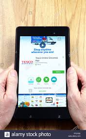 tesco online store on an android tablet pc dorset