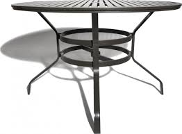 Patio Table With Umbrella Hole Strathwood Grand Isle 48 Inch Round Dining Table With Umbrella