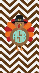monogrammed turkey iphone wallpaper for thanksgiving