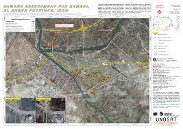 Iraq Province Map Damage Assessment For Ramadi Al Anbar Province Iraq Unitar
