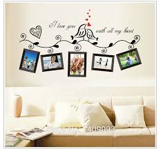 home sweet home decoration photo frame black coffe color wall stickers for home sweet home