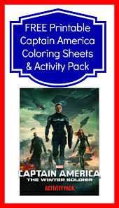 free printable captain america coloring sheets activity pack