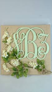 home decor wall hanging personalized burlap monogram baby