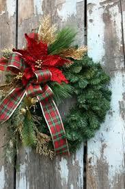 Decorated Christmas Wreaths by Christmas Wreath Plaid Christmas Wreath Winter By Hornshandmade