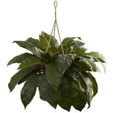 Hanging Plant Nearly Natural 27 In Silk Spider Plant Hanging Basket 6607 The