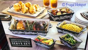 oven to table bakeware sets costco baum 6 pc oven to table serve set 24 99 frugal hotspot