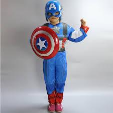 Captain America Halloween Costume Kids Avengers Marvel Superhero Comic Book Kids Boys Mens Fancy