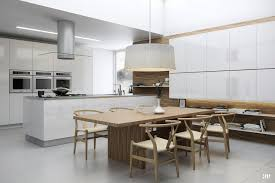 kitchen room residential cathedral ceiling lighting sloped