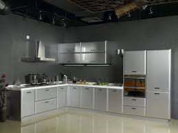 the futuristic inspiration of metal kitchen cabinets inside modern